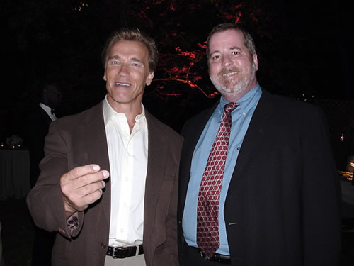 Arnold Schwarzenegger and Mark A. Popp Bush Presidential Inaugural, January 20, 2001