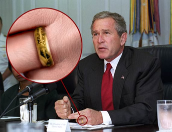 George W. Bush with the Ring of Power