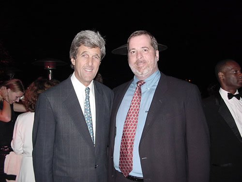 John Kerry Smiling While Grabbing Mark A. Popp's Ass Bush Presidential Inaugural, January 20, 2001