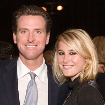 Gavin Newsom & Brittanie Mountz at the Westfield Opening Gala Event © Drew Altizer