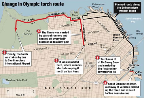 Torch Relay Route Map