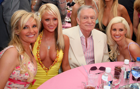 Hef with Playmates