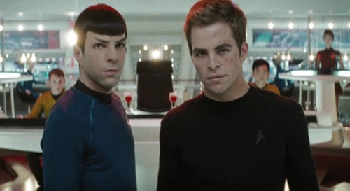 Spock and Kirk Ready to Kick Some Ass